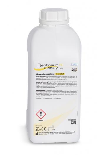 Почистващ препарат за дентални аспирационни системи - седмичен, концентрат 2l - Dentosuc weekly AC pur
